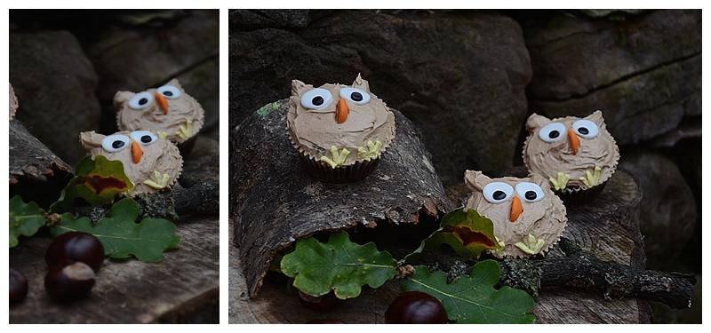 Leckere Cupcake Eulen