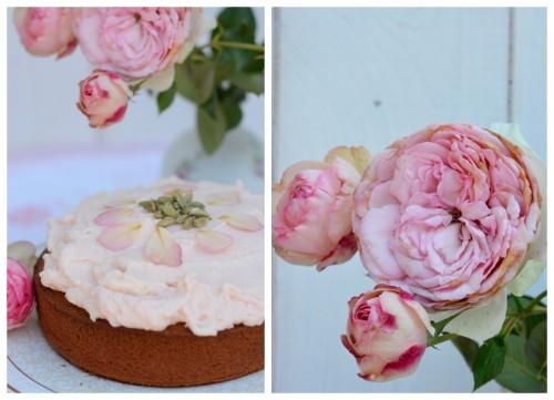 Lassi Kuchen Rose Kardamom Sommerkuchen Rosen Rosenblätter