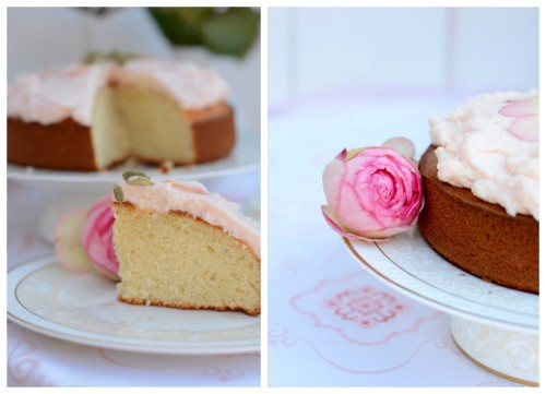 Lassi Kuchen Rose Kardamom Sommerkuchen