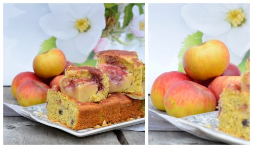 Apfelkuchen Mohn-Marzipan-Kuchen