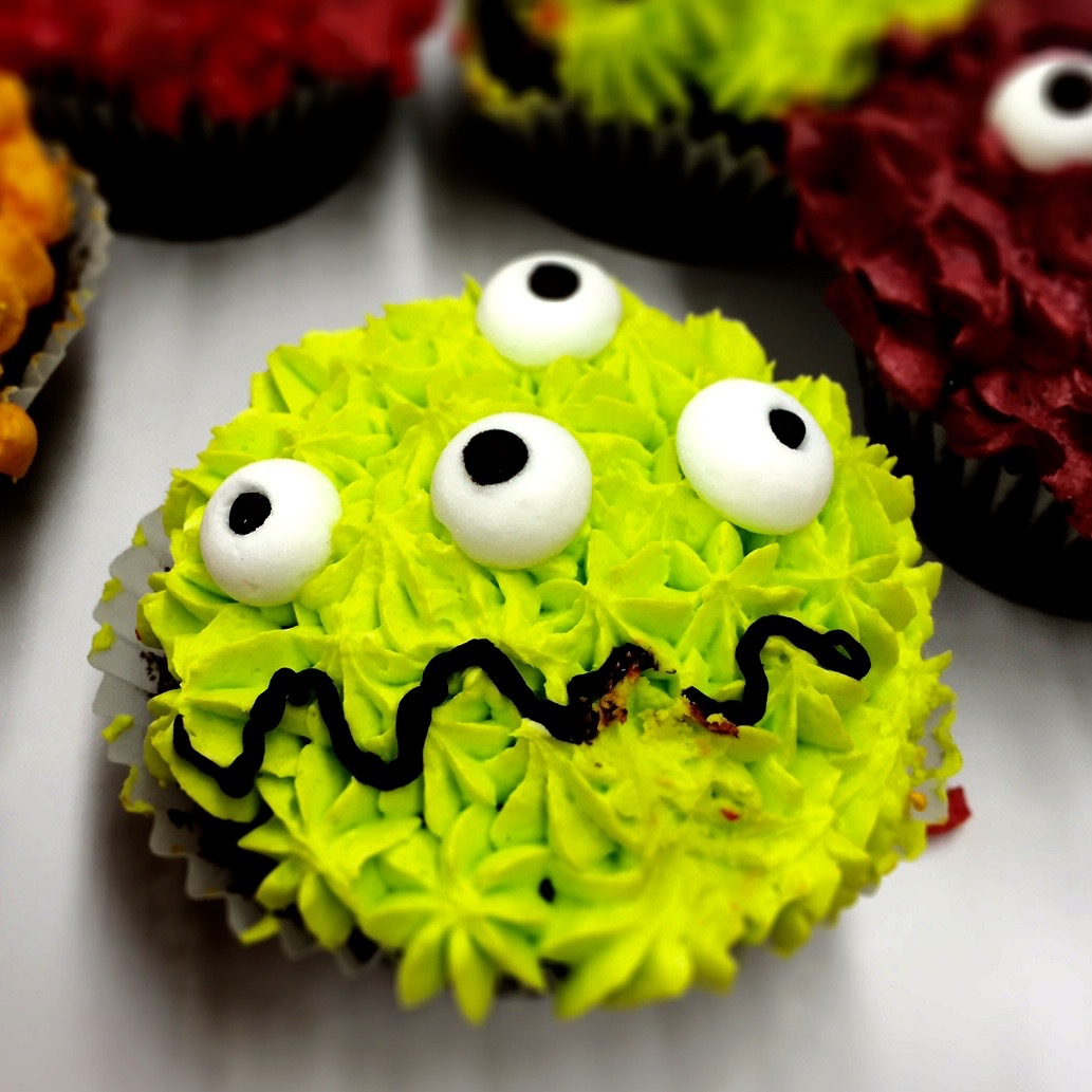 Monster Halloween Cupcake