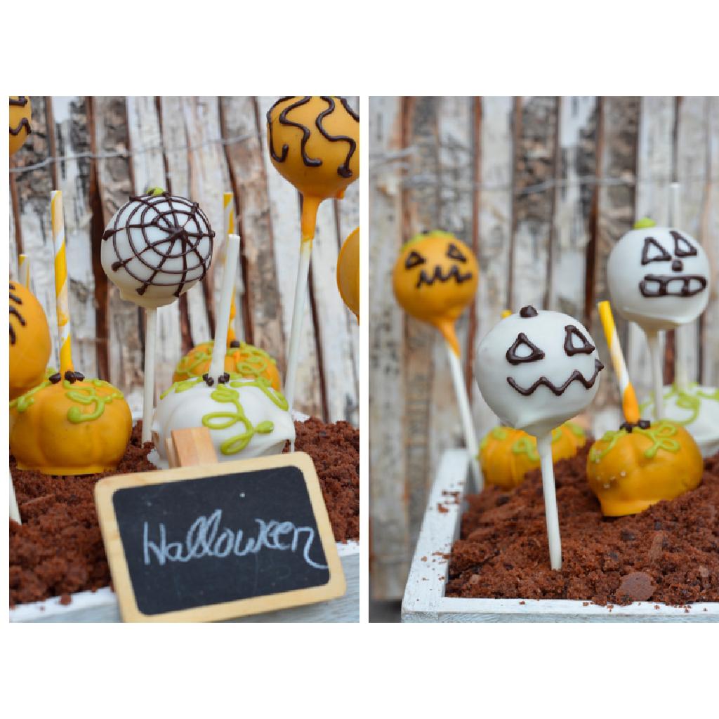 So einfach macht ihr Kürbis Cakepops zu Halloween