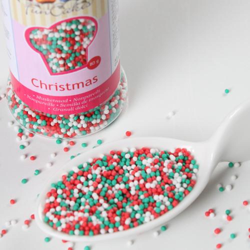 weihnachtliche Nonpareilles grün weiß rot
