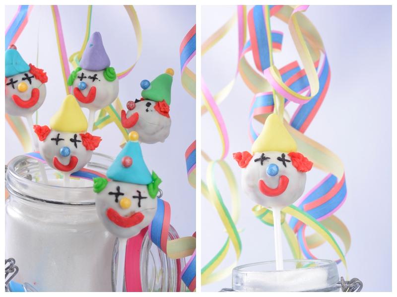 Clown Cakepops Fasching Karneval