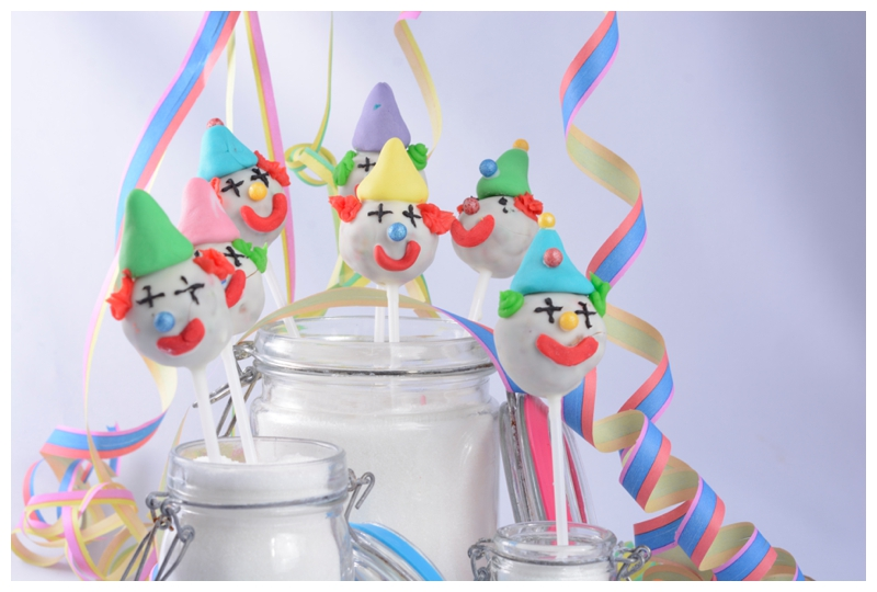 Clown Cakepops Fasching Karneval