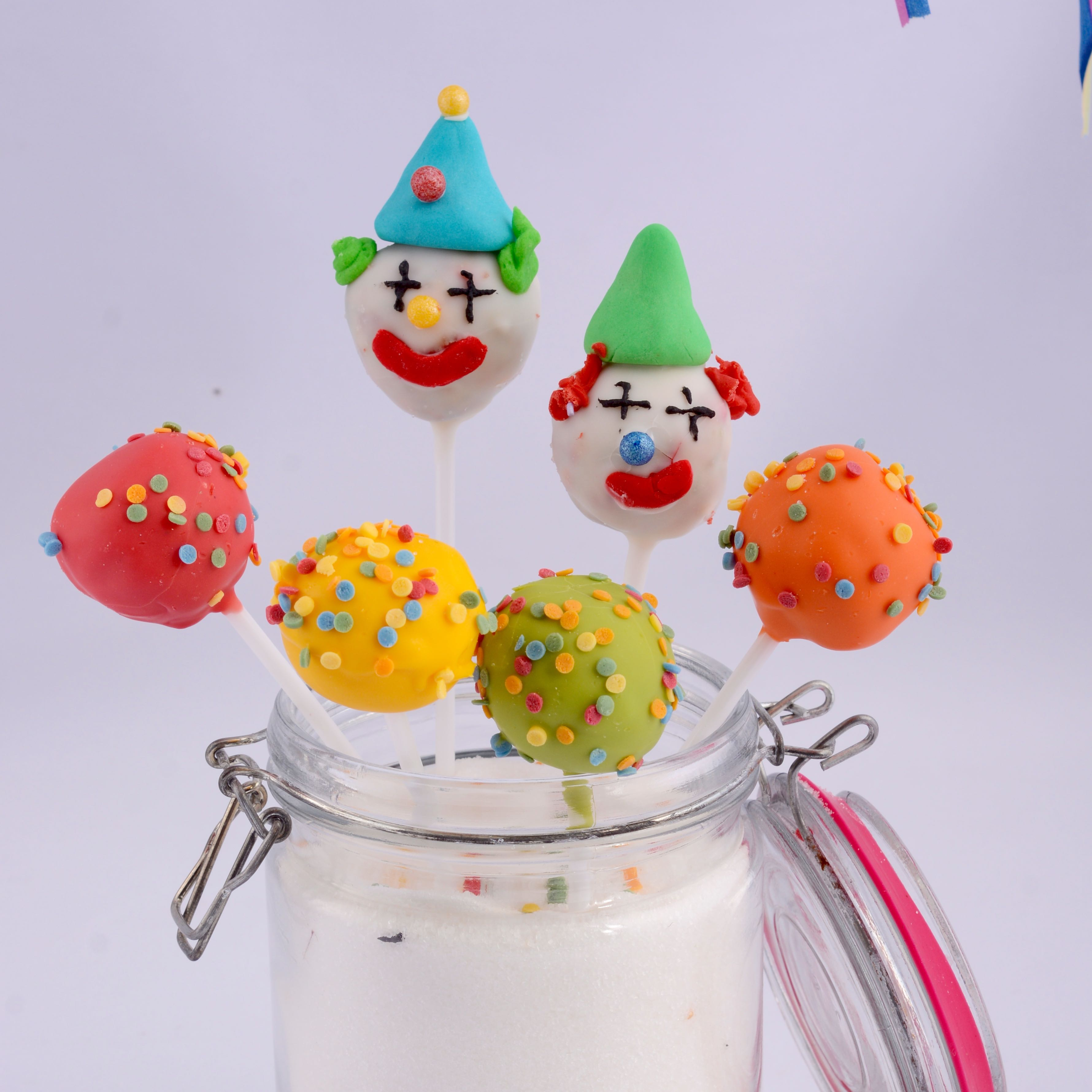 Clown Und Confetti Cakepos Zu Fasching Die Backschwestern