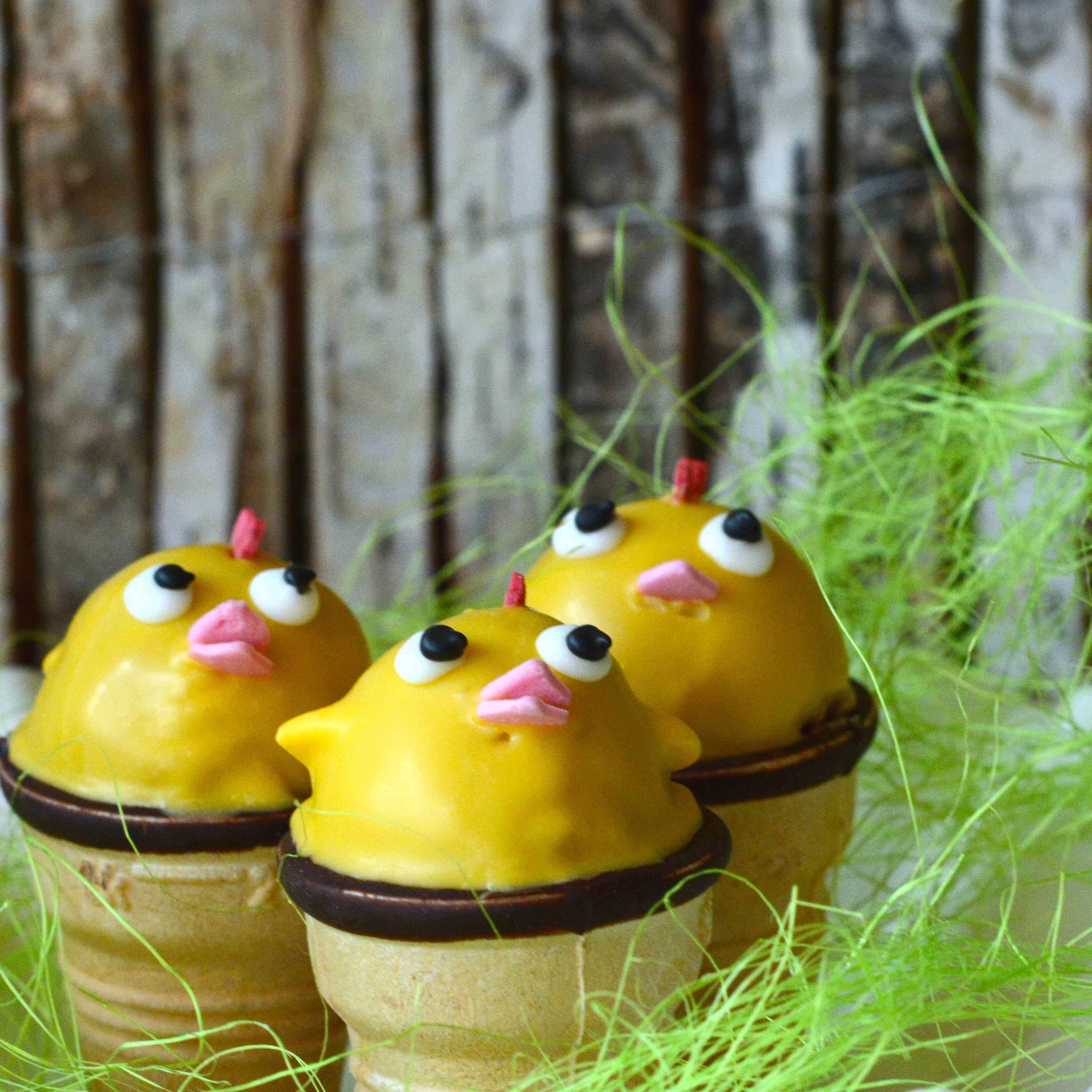 Küken Cakepops gelb Ostern