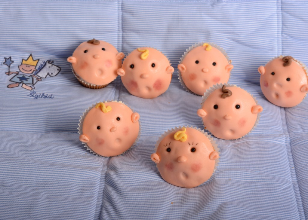 Baby-Shower Baby Cupcakes Junge Taufe