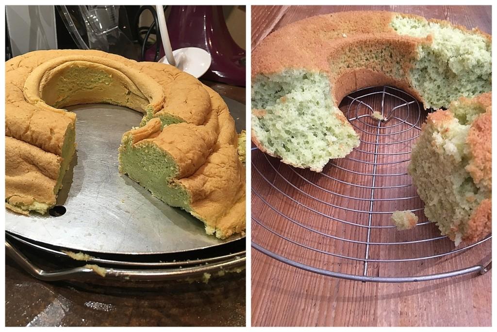 Pandan Chiffon cake Backunfall