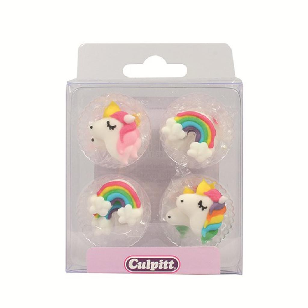 Deko Muffin Kinder Einhörmer Unicorn Regenboger