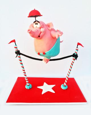 Mr Blump 3D Torte Kuchen Georgia Sutter Puckycakes Saarland Backkurs