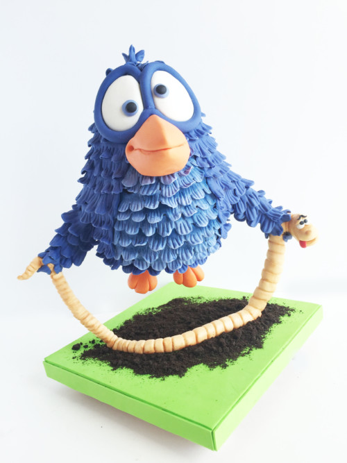 """For the worm"" 3D Torte Kuchen Georgia Sutter Puckycakes Saarland Backkurs"