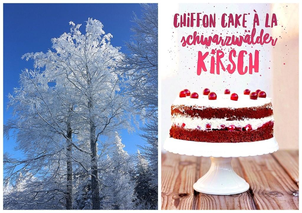 Schnee Schwarzwald Chiffon Cake Cranberries