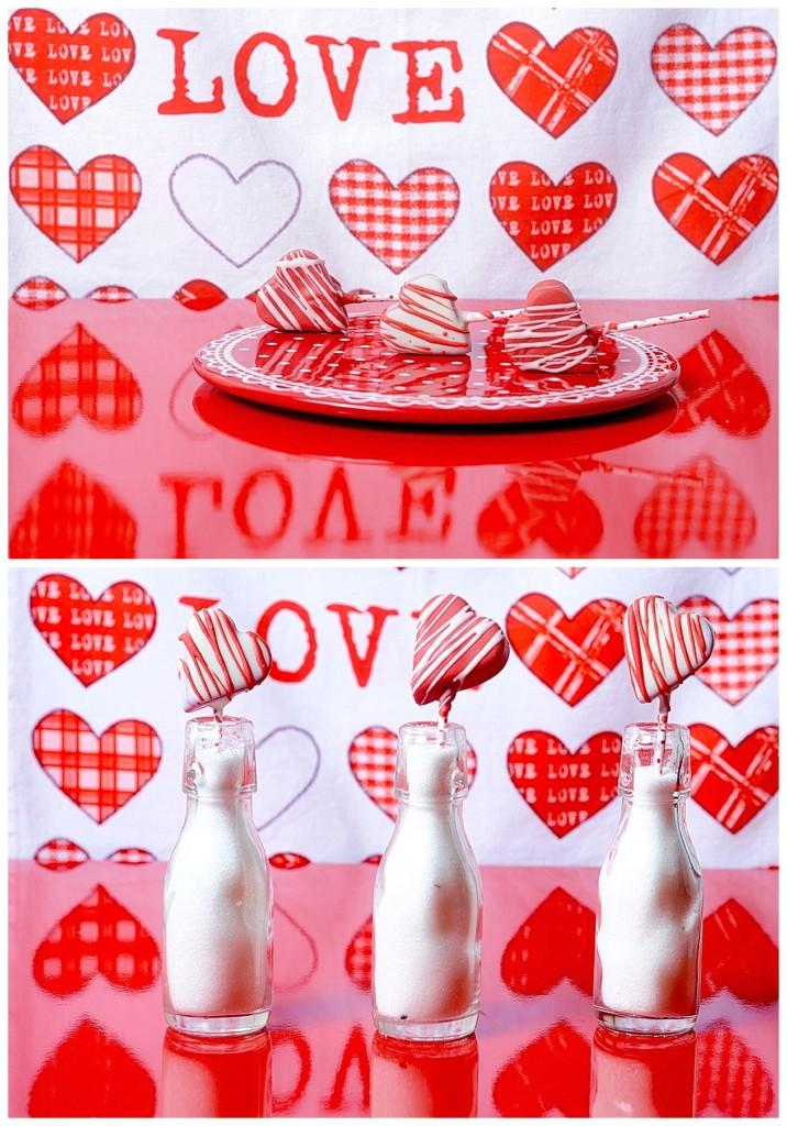 Herzen Valentinstag Cakepop