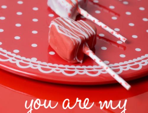 Cakepop-Herzen zum Valentinstag