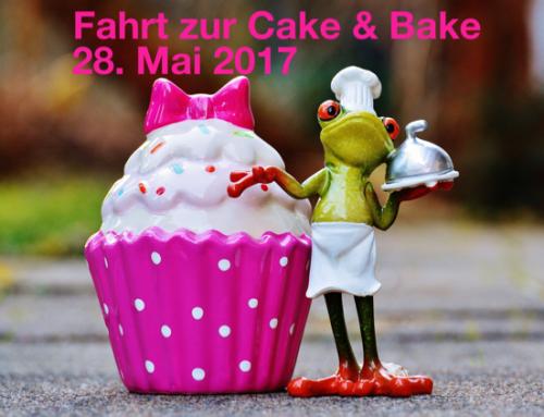 Fahrt ihr mit uns zur Cake & Bake?