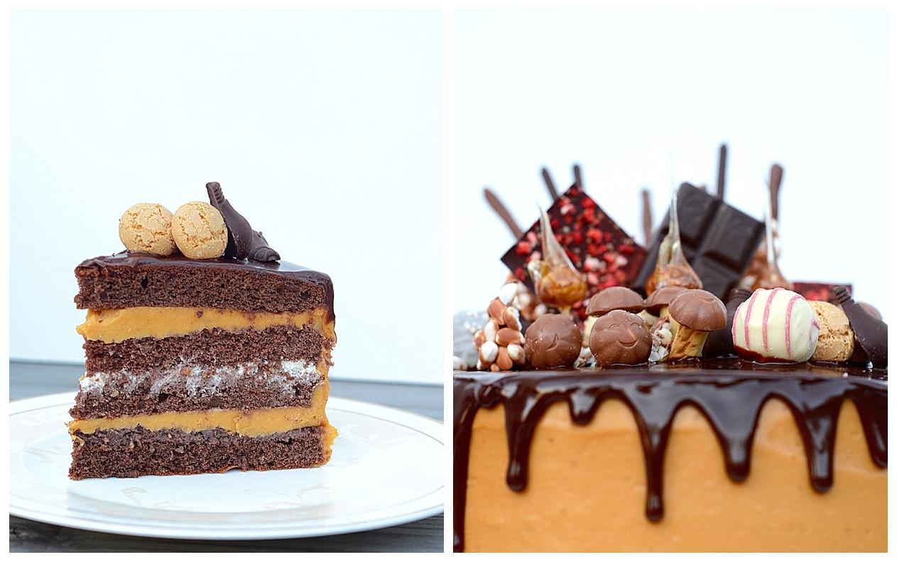 Drip Cake Schokoladen-Karamelltorte