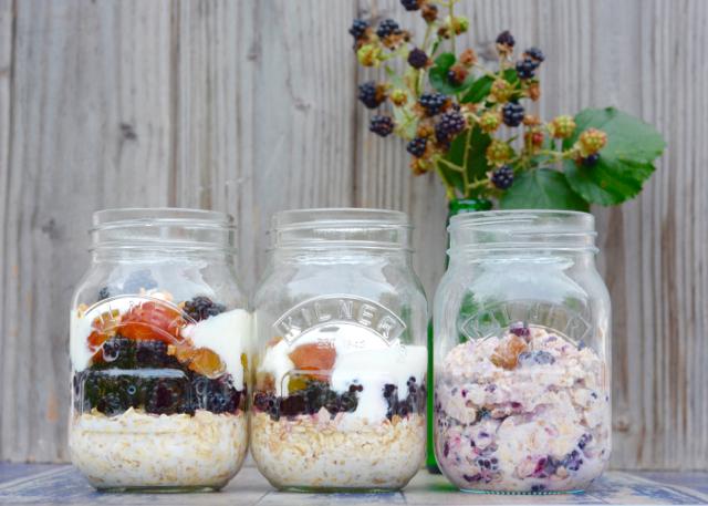 Brombeeren Mirabellen Hafer Haferflocken Frühstück gesund