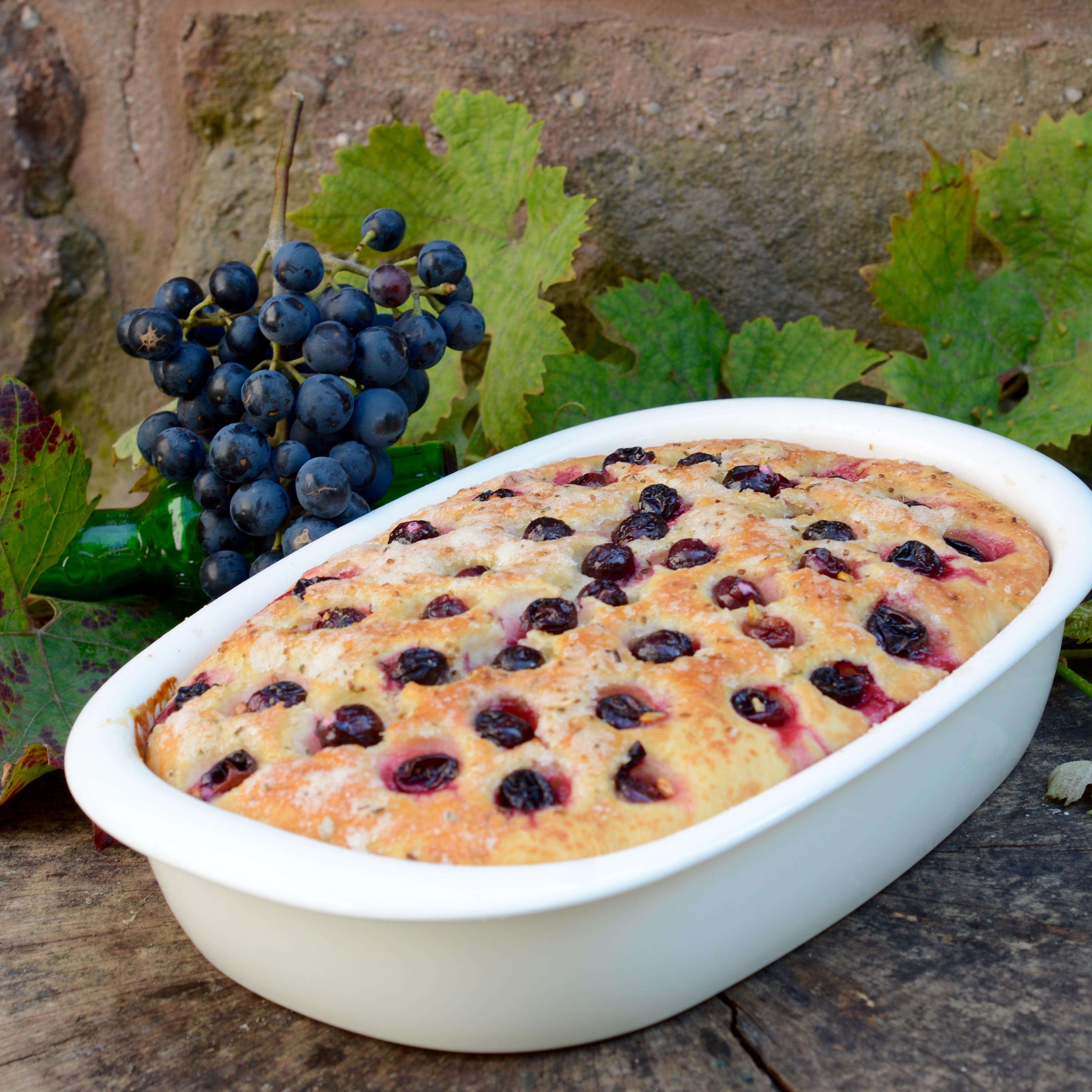 Schiacciata all'uva - Trauben-Focaccia