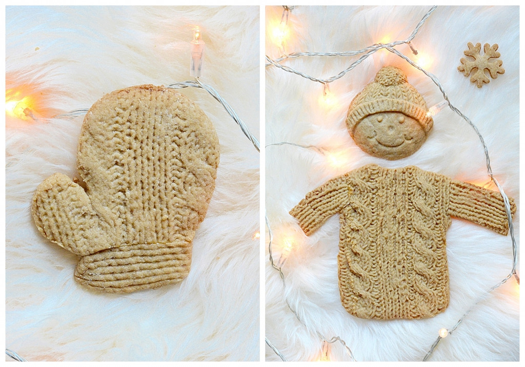 Gingerbread knitted cookies