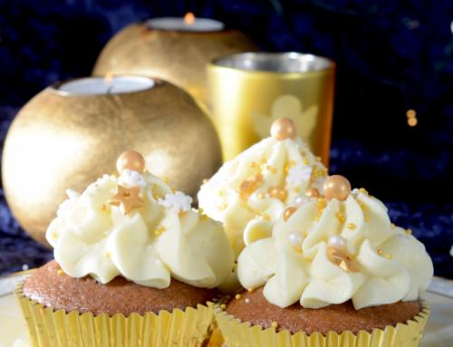 Gewürzkuchen-Cupcakes mit Glühwein-Creme