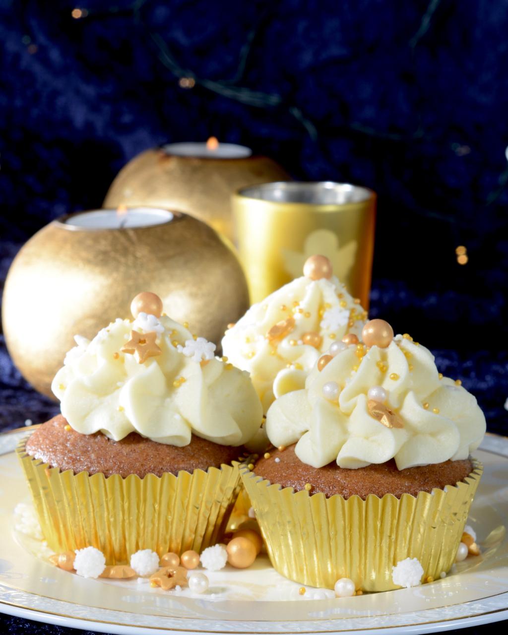 Weihnachtliche Cupcakes Silvester