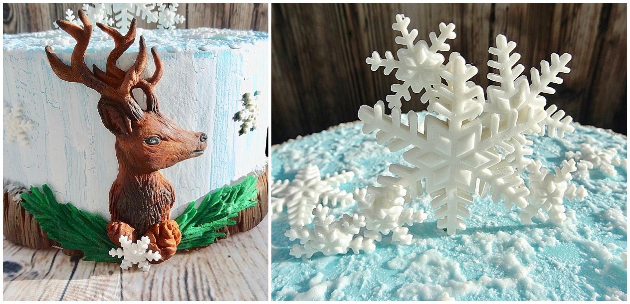 Rustikale Wintertorte mit Cake Crack Design