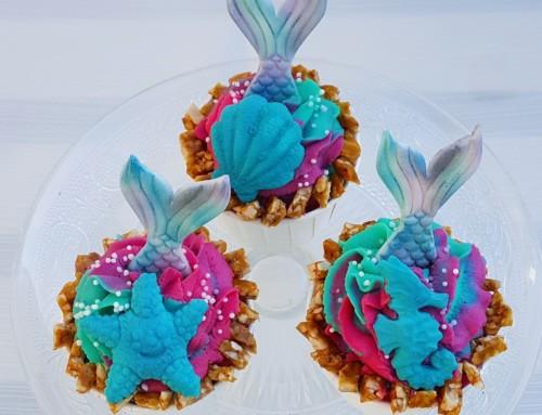 Beitrag Blogparade:  Mermaid-Cupcakes von Silkes Backzauber