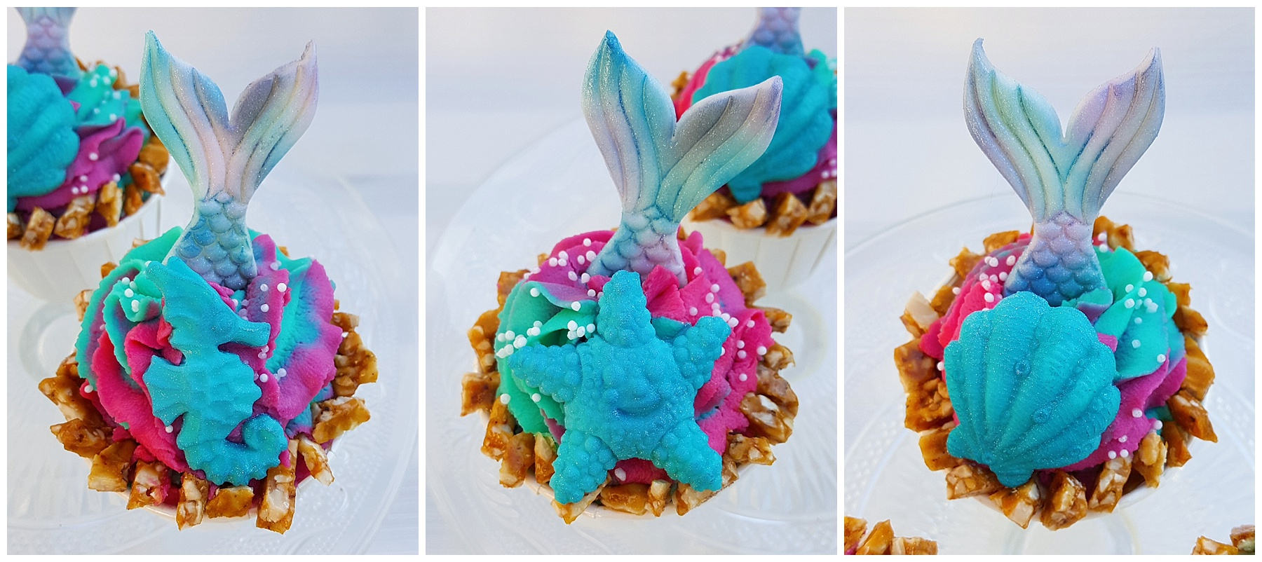 Ananas-Kokos-Cupcakes mit Knusper von Silkes Backzauber