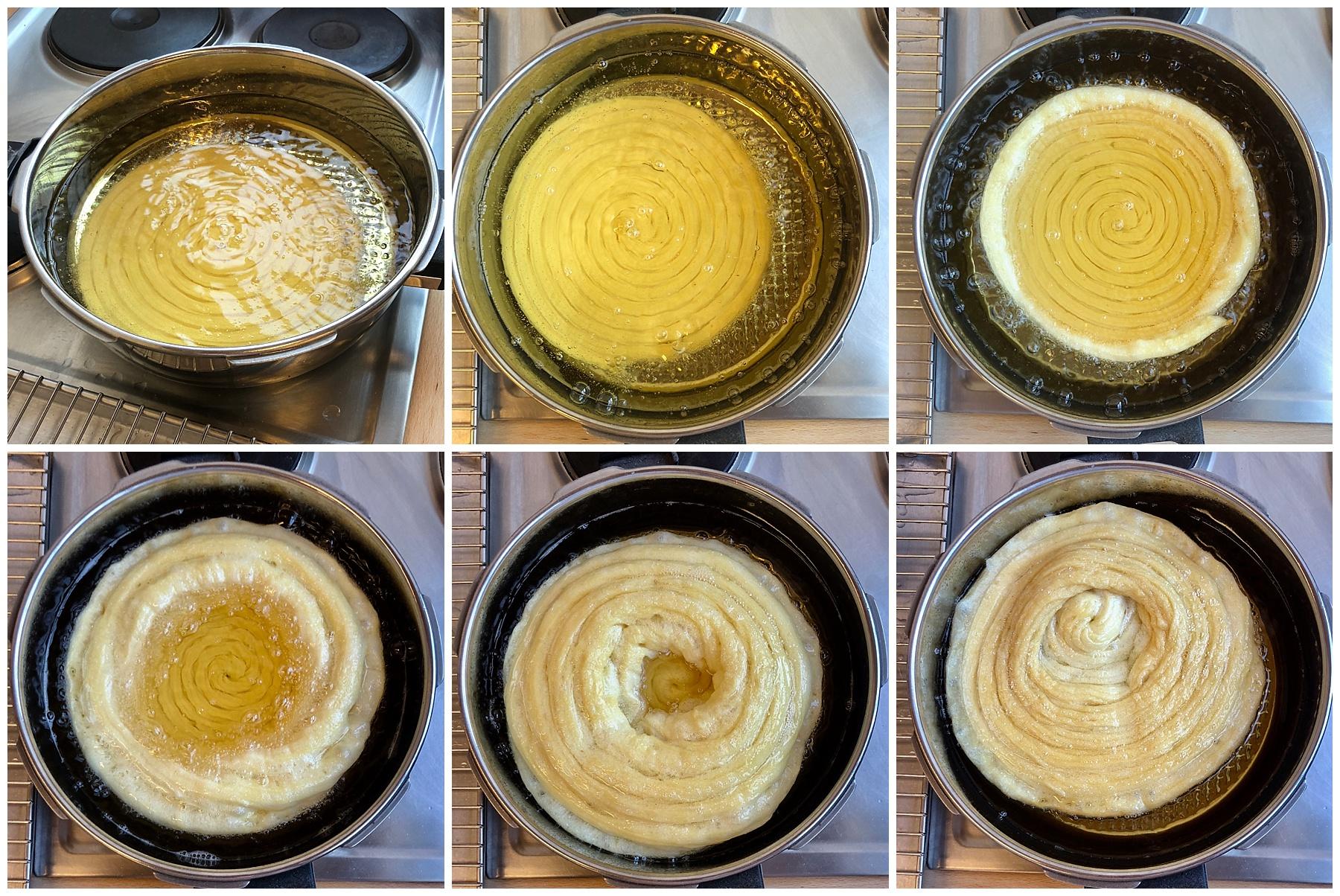 Churros Boden für Cheesecake