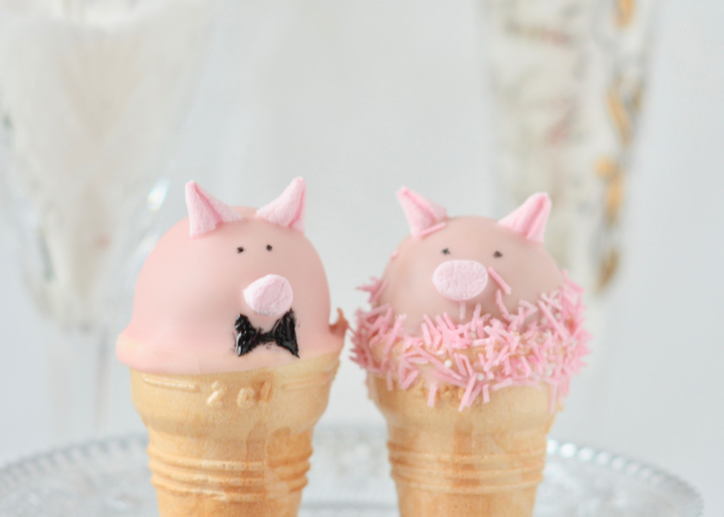 Cakepop Glücksschweinchen für die Silvesterparty