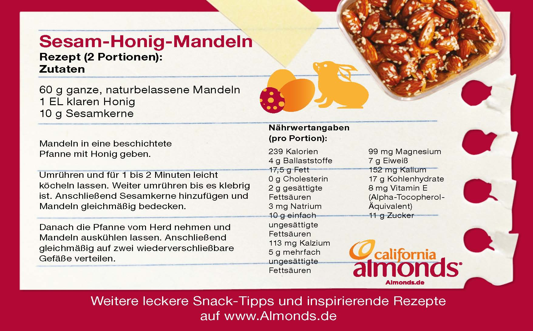Leckere Ostersnacks mit Mandeln - Die Backschwestern Almond Board