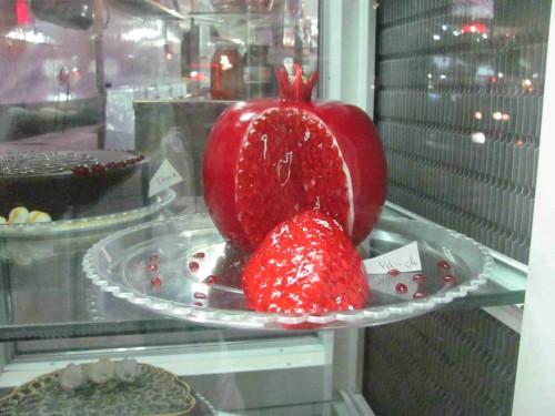 Torte in Form eines Granatapfels in einer Konditorei in Tabriz (Iran)
